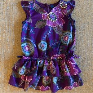 Baby Gap Purple Floral Dress